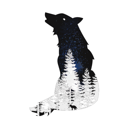 wolf-in-forest-illustration